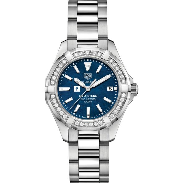 NYU Stern Women's TAG Heuer 35mm Steel Aquaracer with Blue Dial - Image 2