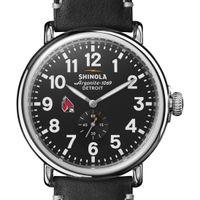 Ball State Shinola Watch, The Runwell 47mm Black Dial