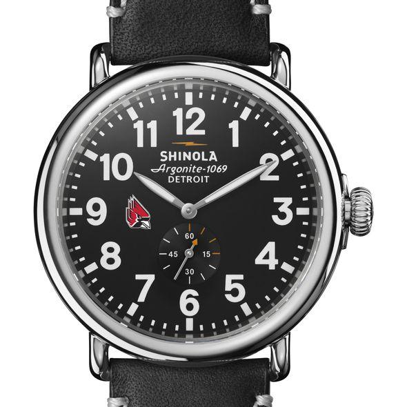 Ball State Shinola Watch, The Runwell 47mm Black Dial - Image 1