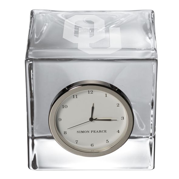 Oklahoma Glass Desk Clock by Simon Pearce - Image 2