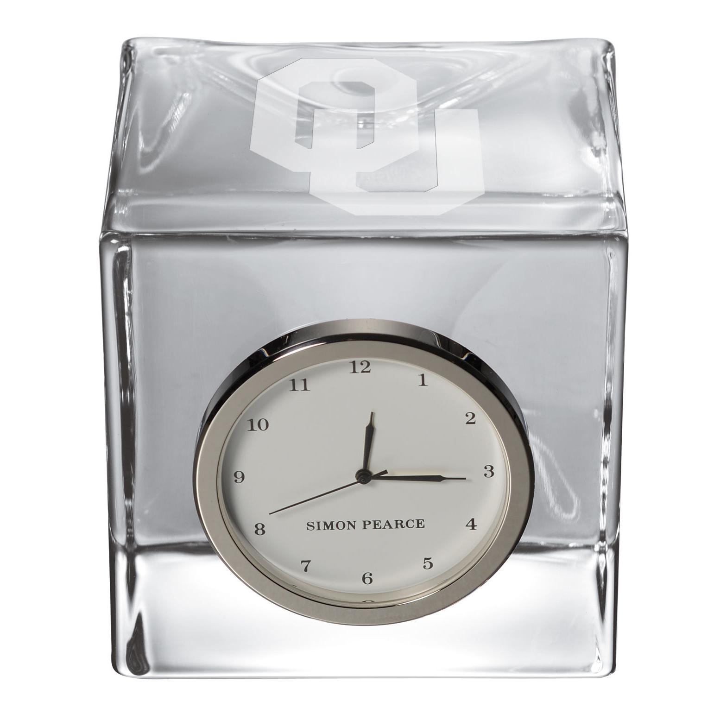 Oklahoma Glass Desk Clock by Simon Pearce - Image 2