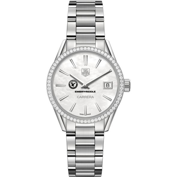 Embry-Riddle Women's TAG Heuer Steel Carrera with MOP Dial & Diamond Bezel - Image 2