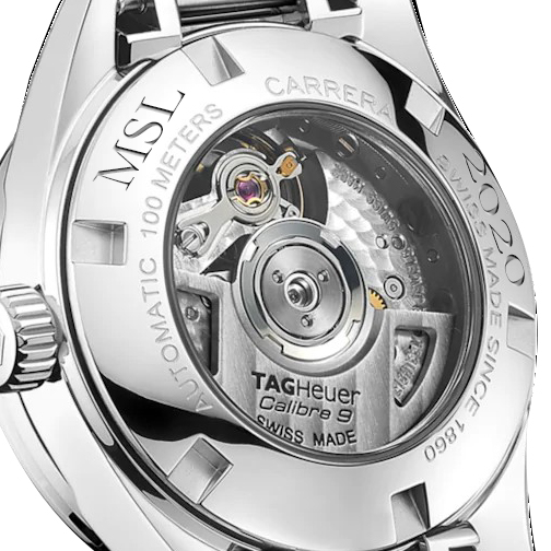 Embry-Riddle W's TAG Heuer Steel Carrera w MOP Dial & Diamond Bezel - Image 3