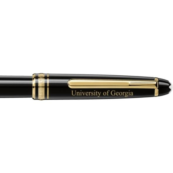 University of Georgia Montblanc Meisterstück Classique Rollerball Pen in Gold - Image 2