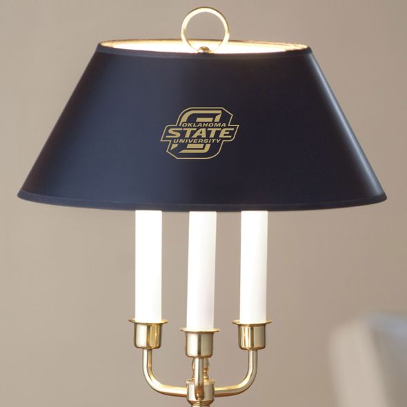 Oklahoma State University Lamp in Brass & Marble - Image 2