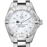 University of Iowa Women's TAG Heuer Steel Aquaracer w MOP Dial