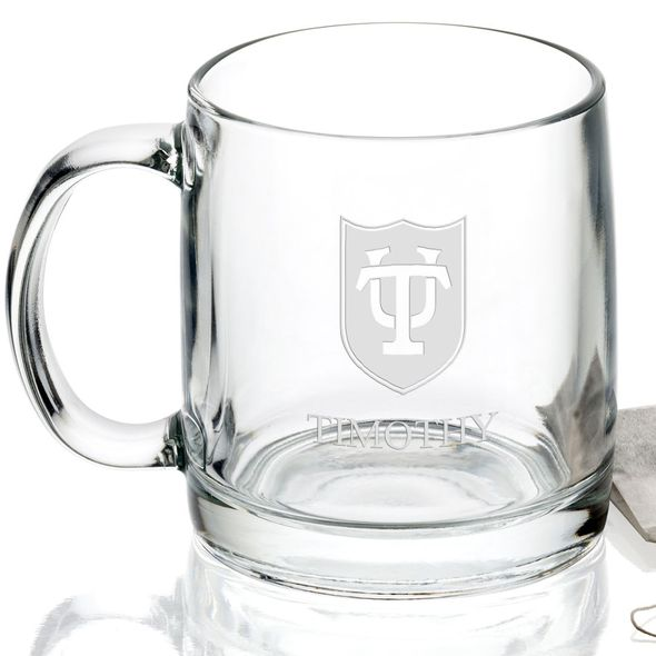 Tulane University 13 oz Glass Coffee Mug - Image 2
