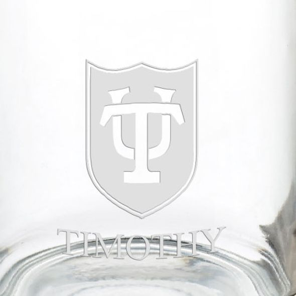 Tulane University 13 oz Glass Coffee Mug - Image 3