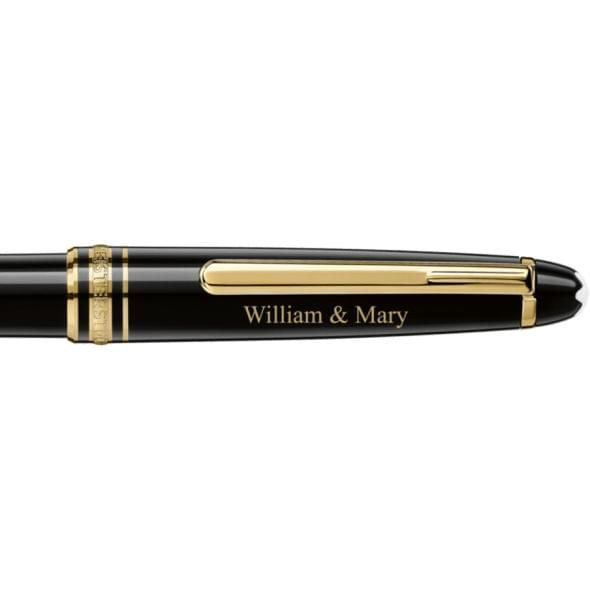 College of William & Mary Montblanc Meisterstück Classique Ballpoint Pen in Gold - Image 2