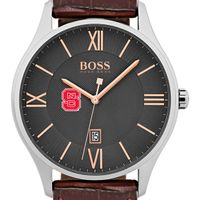 North Carolina State Men's BOSS Classic with Leather Strap from M.LaHart