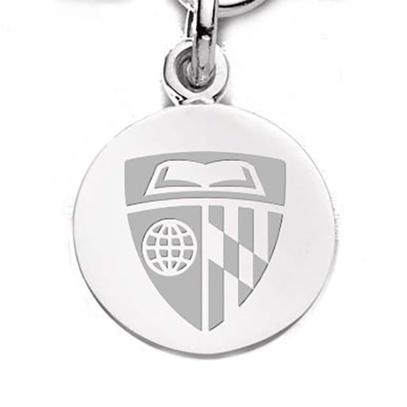 Johns Hopkins Sterling Silver Charm