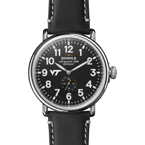 Virginia Tech Shinola Watch, The Runwell 47mm Black Dial - Image 2