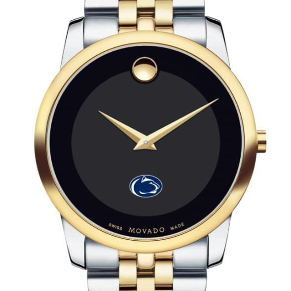Penn State Men's Movado Two-Tone Museum Classic Bracelet - Image 1