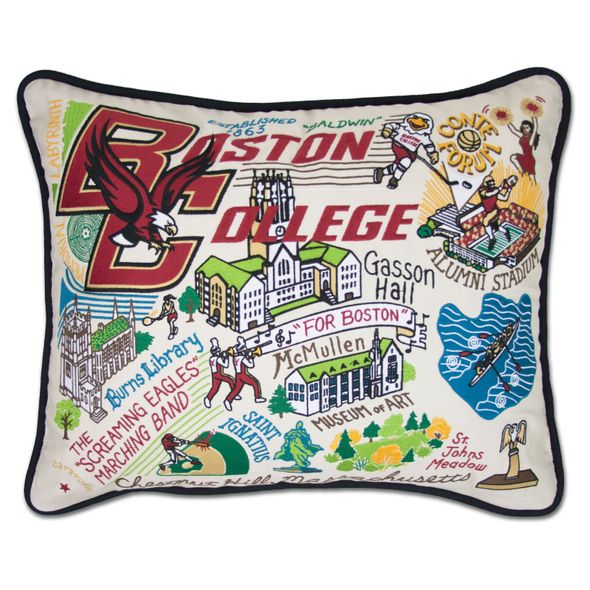 Boston College Embroidered Pillow
