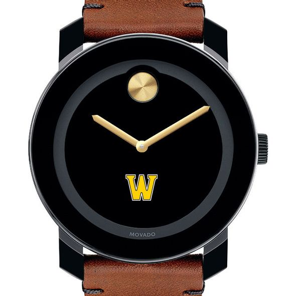 Williams College Men's Movado BOLD with Brown Leather Strap