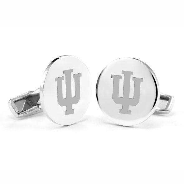 Indiana University Cufflinks in Sterling Silver