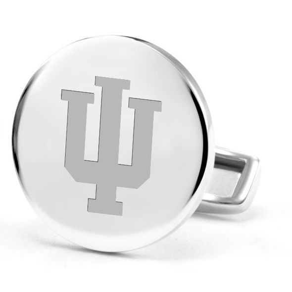 Indiana University Cufflinks in Sterling Silver - Image 2