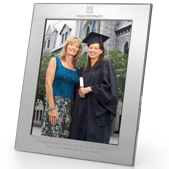 Yale Polished Pewter 8x10 Picture Frame - Image 2