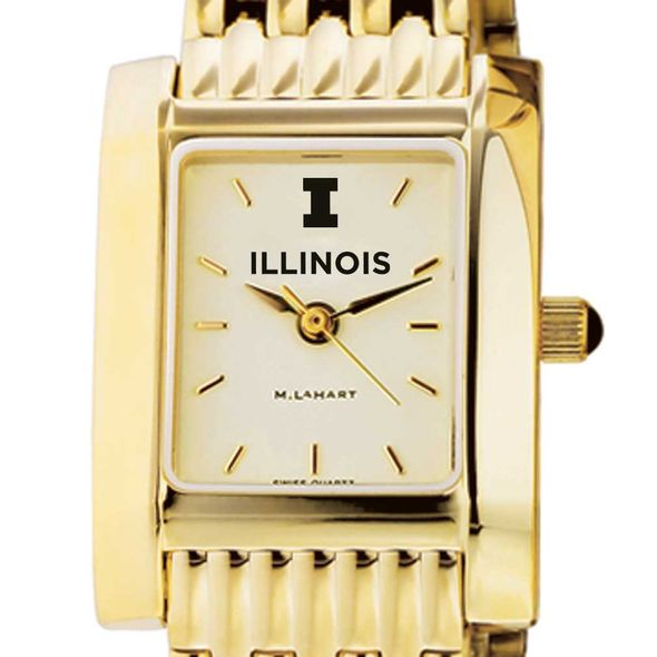 University of Illinois Women's Gold Quad with Bracelet