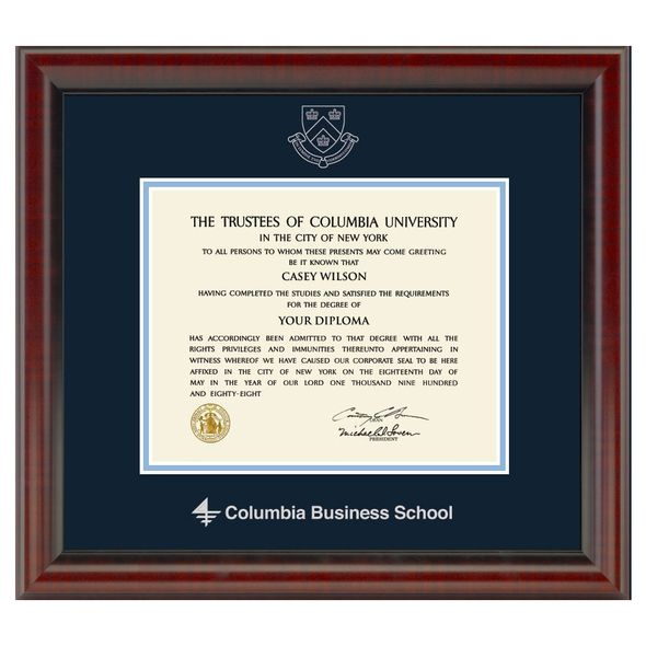 Columbia Business Diploma Frame, the Fidelitas - Image 1