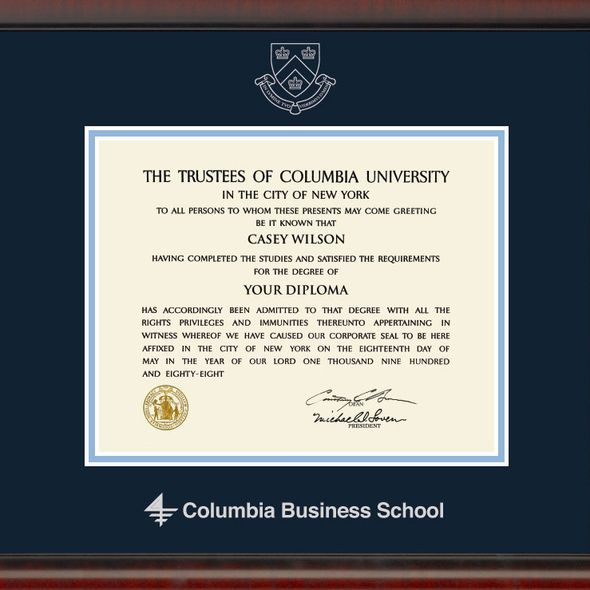 Columbia Business Diploma Frame, the Fidelitas - Image 2