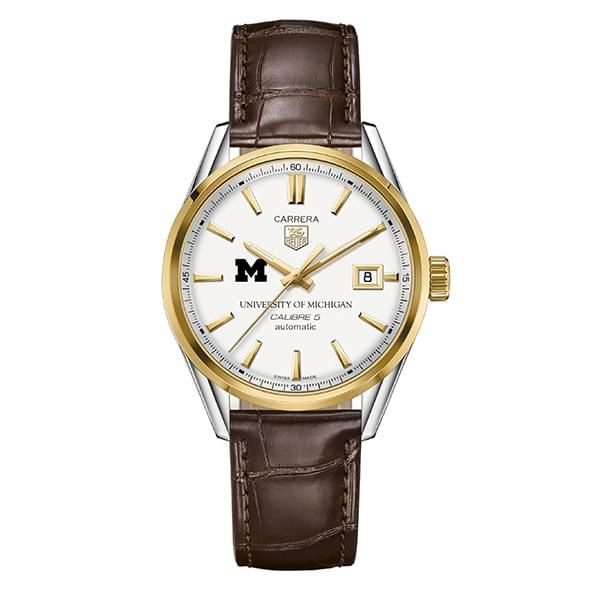 Michigan Men's TAG Heuer Two-Tone Carrera with Strap - Image 2