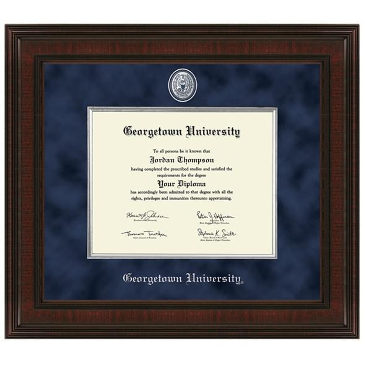 Georgetown University Diploma Frame Excelsior