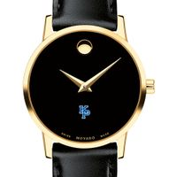 Merchant Marine Academy Women's Movado Gold Museum Classic Leather