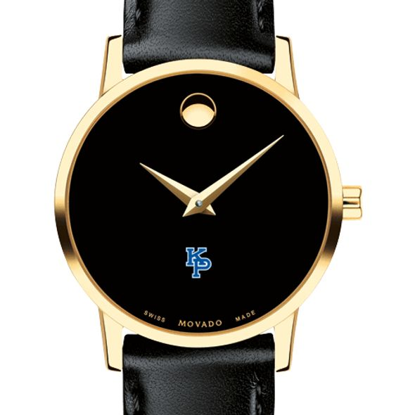 US Merchant Marine Academy Women's Movado Gold Museum Classic Leather