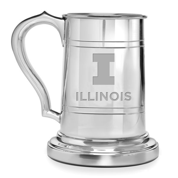 University of Illinois Pewter Stein