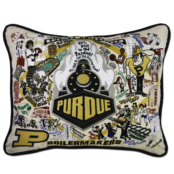 Purdue Embroidered Pillow