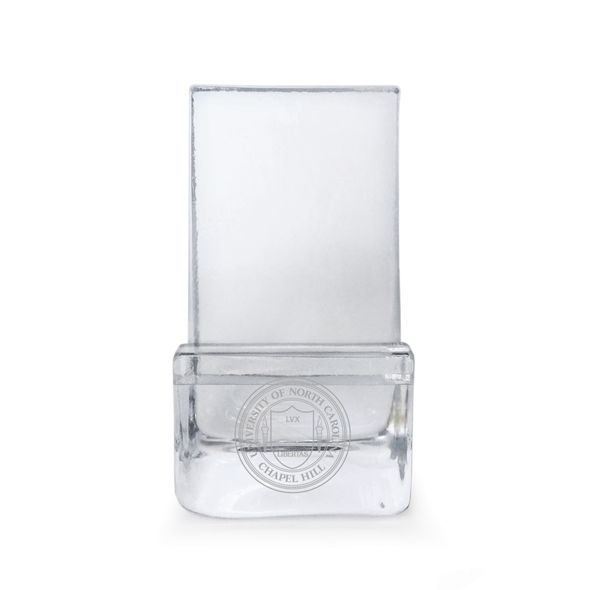 UNC Glass Phone Holder by Simon Pearce