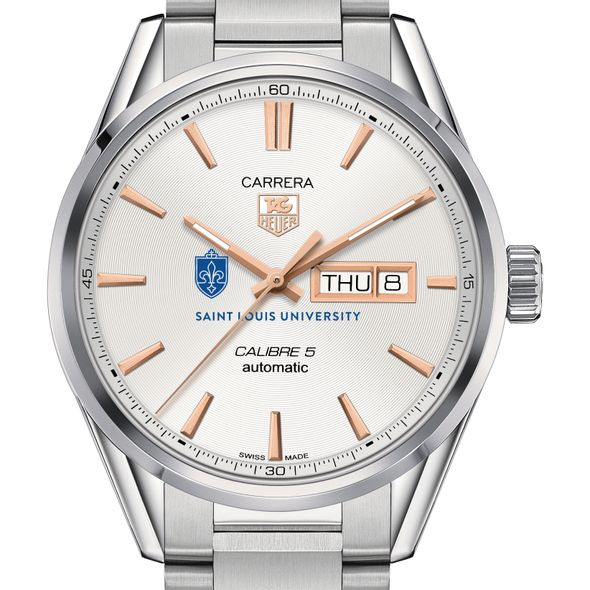 Saint Louis University Men's TAG Heuer Day/Date Carrera with Silver Dial & Bracelet