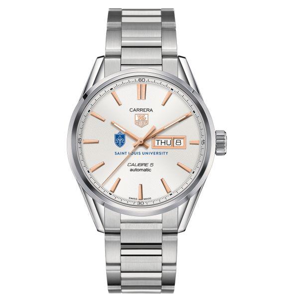 Saint Louis University Men's TAG Heuer Day/Date Carrera with Silver Dial & Bracelet - Image 2