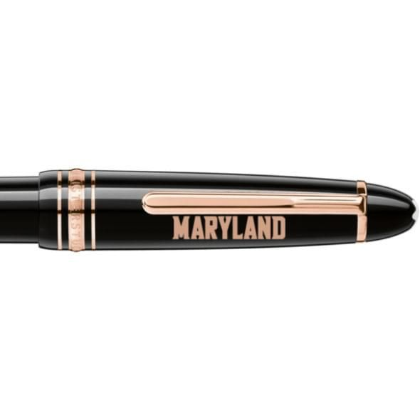 University of Maryland Montblanc Meisterstück LeGrand Ballpoint Pen in Red Gold - Image 2