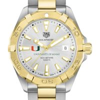 University of Miami Men's TAG Heuer Two-Tone Aquaracer