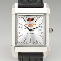 Oklahoma State University Men's Collegiate Watch with Leather Strap
