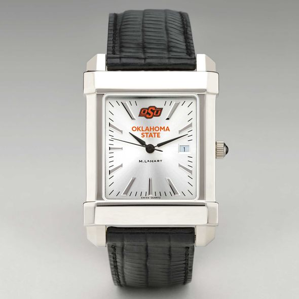 Oklahoma State University Men's Collegiate Watch with Leather Strap - Image 2