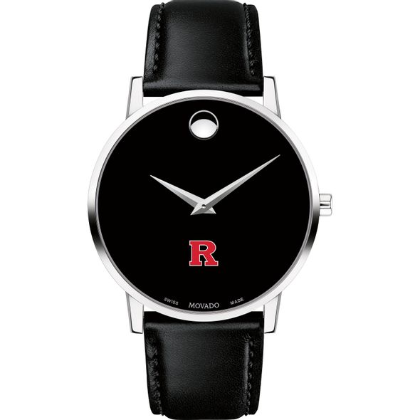 Rutgers University Men's Movado Museum with Leather Strap - Image 2