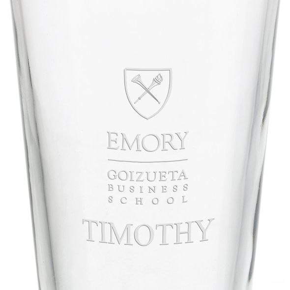 Emory Goizueta Business School 16 oz Pint Glass - Image 3