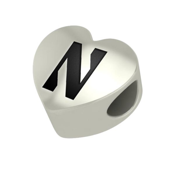Northwestern Heart Shaped Bead - Image 1