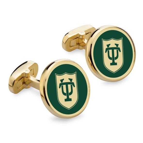 Tulane University Enamel Cufflinks