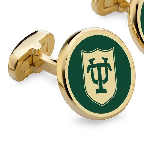 Tulane University Enamel Cufflinks - Image 2