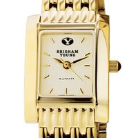 Brigham Young University Women's Gold Quad with Bracelet