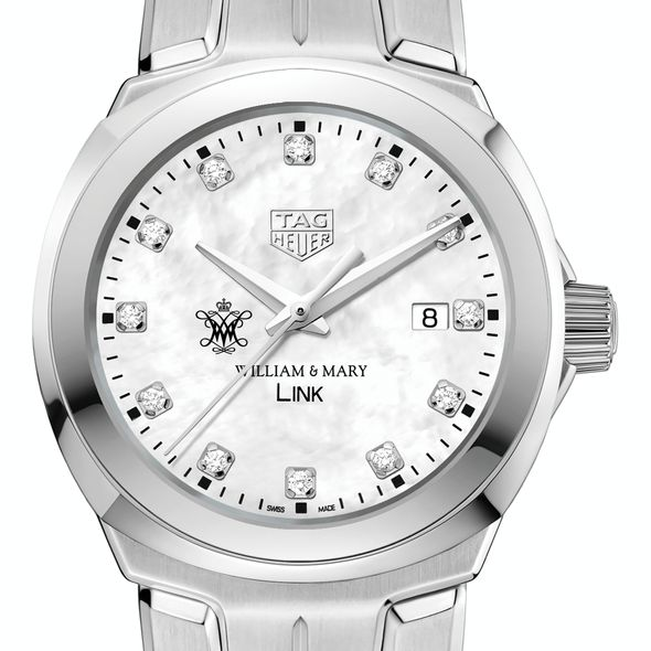 College of William & Mary TAG Heuer Diamond Dial LINK for Women
