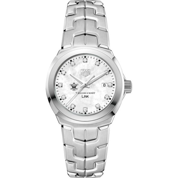 College of William & Mary TAG Heuer Diamond Dial LINK for Women - Image 2