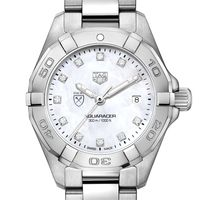 Emory Women's TAG Heuer Steel Aquaracer with MOP Diamond Dial