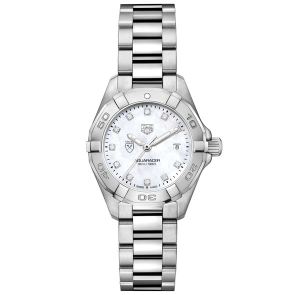 Emory Women's TAG Heuer Steel Aquaracer with MOP Diamond Dial - Image 2