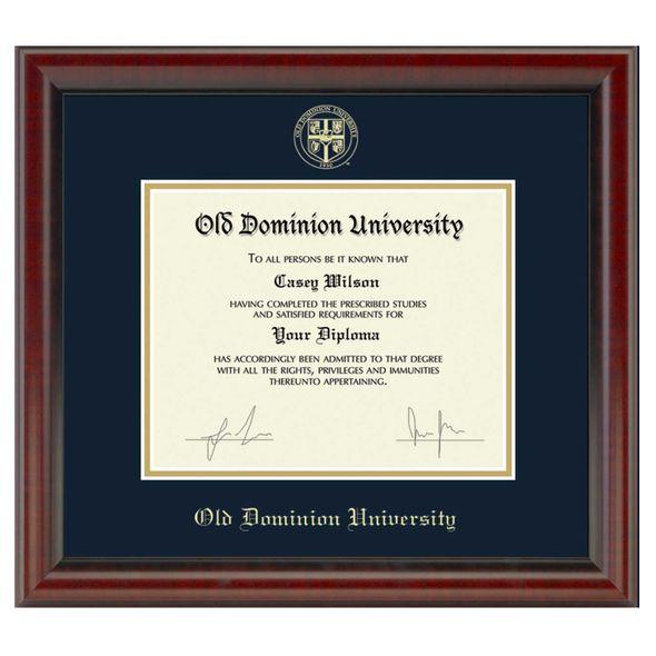 Old Dominion Diploma Frame, the Fidelitas