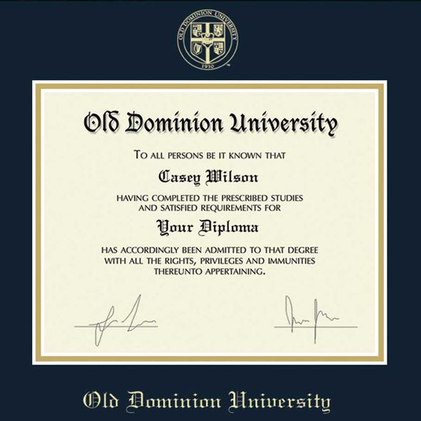 Old Dominion Diploma Frame, the Fidelitas - Image 2